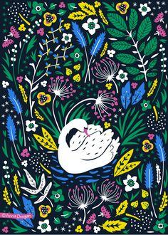 Wildflower Garden Collection by Anna Deegan, via Behance