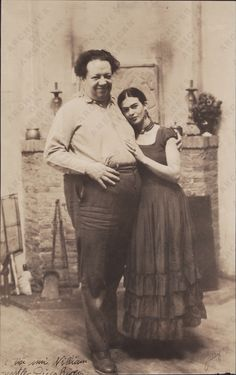 """Frida Kahlo and Diego Rivera. """"There have been two great accidents in my life. One was the trolley, and the other was Diego. Diego was by far the worst. Frida E Diego, Frida Kahlo Diego Rivera, Famous Artists, Great Artists, Natalie Clifford Barney, Kahlo Paintings, Frida Kahlo Artwork, Max Ernst, Mexican Artists"""