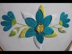 Satin stitch and silk shading (long and short stitch) - YouTube