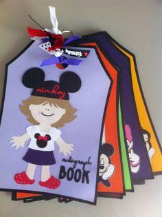 Handmade Custom Disney Autograph Book by ThreePaperTulips on Etsy, $40.00: