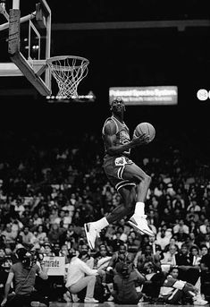 Michael Jordan of the Chicago Bulls attempts a dunk during the 1988 Slam Dunk Contest on February 1988 at Chicago Stadium in Chicago, Illinois. Ar Jordan, Michael Jordan Basketball, Michael Jordan Pictures, Michael Jordan Photos, Chicago Bulls, Chicago Illinois, Jordan Poster, Nba Pictures, Fan Poster
