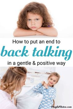 Kids talking back why it happens and how to handle this in a positive way the beginner s guide to positive discipline for toddlers Peaceful Parenting, Gentle Parenting, Parenting Advice, Parenting Courses, Funny Parenting, Parenting Quotes, Mindful Parenting, Positive Parenting Solutions, Conscious Parenting