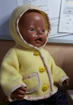 Puppenkleidung - Kapuzenjacke - ein Designerstück von by_Masha bei DaWanda