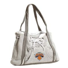 """NBA New York Knicks Hoodie Purse by Pro-FAN-ity by Littlearth. Save 47 Off!. $15.95. Exterior 80% Cotton/ 20% Polyester; Interior 100% Cotton. Sturdy Magnetic Closure and Tied Drawstrings. Features Distressed """"PROPERTY OF"""" and Team Logo. Contrasting Heather Gray on Bottom and Handles. Officially Licensed. Kangaroo Front Pocket and One Internal Patch Pocket. Pro-FAN-ity by Littlearth offers you the authentic feel of your favorite sweatshirt in their Officially Licensed Hoodie Purse. The..."""