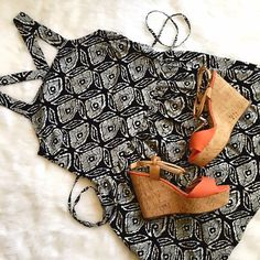 """Urban Outfitters Batik Pattern Sundress Cute casual warm weather look! The strap details in the back really add some whimsy to this look! String ties let you adjust the look, loose or contoured waist. Bust and waist shown, Length: 33"""" shoulder to hem. Urban Outfitters Dresses"""