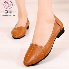 ff3bc8014f83 MVVJKE womens sandals shoe Woman Genuine Leather Flat Shoes Fashion ...