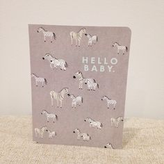 How cute is this baby zebra card?  #Cardoftheday