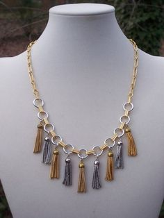 Vintage Chain Tassels and vintage chain designed by Elizabeth Hamilton!  She does it again.