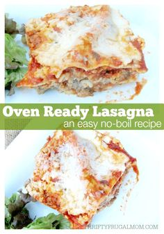 Oven Ready Lasagna (a quick, no boil lasagna Looking for an easy lasagna recipe? This no-boil version makes making lasagna a cinch! Plus it& delicious and freezes well too! Lasagna Recipe With Oven Ready Noodles, Oven Ready Lasagna, Lasagna Recipe With Ricotta, Easy Lasagna Recipe, Lasagna Noodles, Lasagna Recipes With Uncooked Noodles, Lasagna No Boil Noodles, No Boil Lasagna, Baked Lasagna