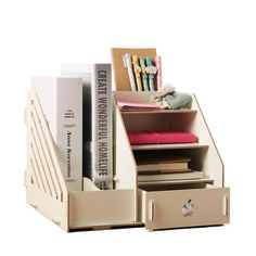 Merveilleux Desk Organiser Drawers Office Desk Storage Boxes File Holder Stand (White)