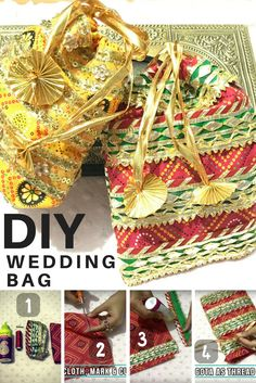 How to Make a Wedding Gift Bag | DIY Jewellery Pouches  #diy #weddinggift #bag #pouch