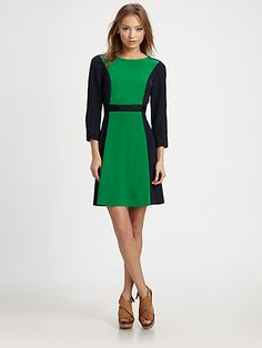 $398 Marc by Marc Jacobs - Avery Silk Colorblock Dress - Saks.com