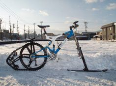 Snowbike..  I would like to try this!