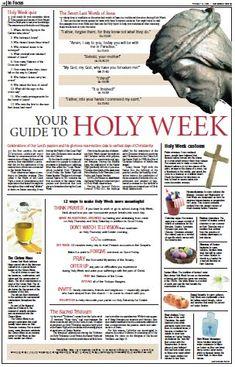 a holy week quiz lent easter pinterest holy week lent and easter. Black Bedroom Furniture Sets. Home Design Ideas