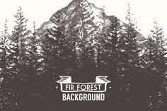 Fir forest background by grop on @creativemarket