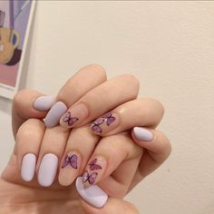 French Manicure Acrylic Nails, Purple Acrylic Nails, Summer Acrylic Nails, Glitter Nail Art, Stylish Nails, Trendy Nails, Nail Drawing, Les Nails, Nail Art For Beginners
