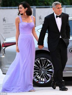 Grand entrance: Earlier in the day they had taken a speedboat along the Venice canal to the plush venue