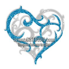 Natural Heart Rhinestone Iron ons Pattern