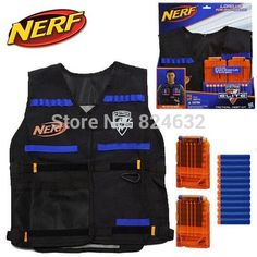 New Nerf N-strike tactical vest nerf kit nerf accessories nerf blaster with 2pcs clear clips and 12pcs nerf bullets