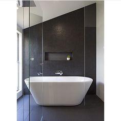 Bathroom with free standing bath #bathrooms #bathroomtiles @graya_construction