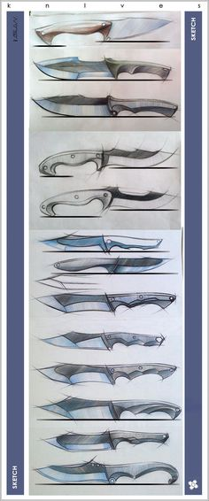 knife making kit with tools Cool Knives, Knives And Swords, Knife Drawing, Dagger Drawing, Knife Template, Trench Knife, Diy Knife, Knife Patterns, Knife Sharpening
