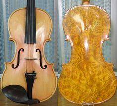 Birds Eye Maple Wood Backs this Violin