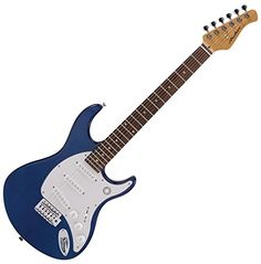 Archer Electric Guitar Transparent Blue >>> To view further for this item, visit the image link.