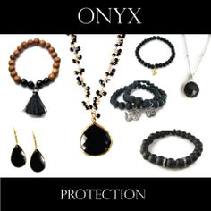 Beautiful Black onyx jewelry. Inspired for the soul. Dramatic and simple