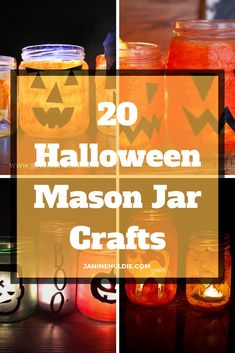 I love mason jar crafts for all occasions. So, stands to reason that I would share some of my favorites Halloween Mason Jar crafts here now.