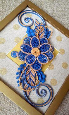 Vintage Blue Quilling