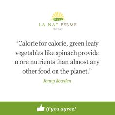 Get local nutrient-dense spinach from #lanayferme.