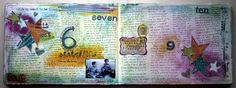Double page spread for a weekly art journal