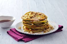 Avocadopannenkoekjes - Recept - Allerhande Lunches And Dinners, Tasty Dishes, Avocado Toast, Slow Cooker, Pancakes, Bakery, Healthy Recipes, Healthy Food, Sweets