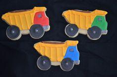dump truck decorated cookies   Bob the Builder Dump Trucks
