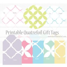 Free Printable Quatrefoil Gift Tags