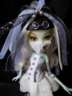 Cyber goth white set for MH and EAH doll by DollsThell on Etsy