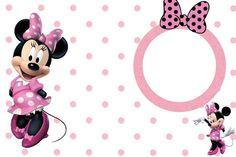 Tarjetas para imprimir gratis de Minnie Mouse en rosa, blanco y negro. | Ideas y material gratis para fiestas y celebraciones Oh My Fiesta!