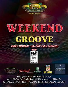 Visit and enjoy the ambience on #SaturdayNight Weekend Groove at CafeMojo Mumbai #WeekendParty #Mumbaiparty #MumbaiNight