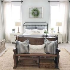 """Silver Strand by Sherwin-Williams (This is a popular color used by Joanna Gaines on HGTV's Fixer Upper. See more """"Fixer Upper"""" paint colors here.) Our Vintage Nest Related Stories Jubilee Farmh"""
