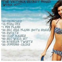 Victoria's Secret Model Diet & Workout Plan