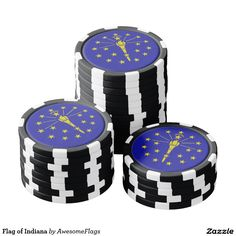 Flag of Indiana Poker Chips