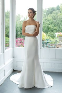Sweetheart Gowns - Style Mikado Strapless Fit and Flare Gown with Cuff Neckline Wedding Dresses Under 100, Stunning Wedding Dresses, Fit And Flare Wedding Dress, Wedding Dress Trends, Wedding Party Dresses, Designer Wedding Dresses, One Shoulder Wedding Dress, Sweetheart Bridal, Sweetheart Wedding Dress