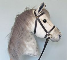 Hobby Horsing larger dapple grey hobby horse (stick horse) top quality with removable leather bridle. For older children and teenagers. Stick Horses, Hobby Horse, Diy Painting, Pet Toys, Grey, Leather, Sewing Tips, Stuffed Animals, Teenagers