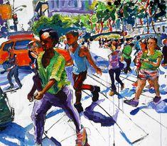 The Ghostwriter's Long Walk by Tom Christopher Toms, Urban Life, New York Street, Walking By, American Artists, Original Artwork, Prints, Ghostwriter, Paintings