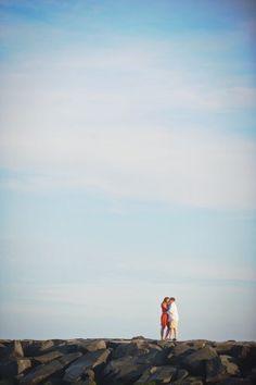 Ocean City Maryland Boardwalk Wedding Engagement Session