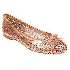 Sapatilha Metalizada! #shoestock #bestsellers #flats #metalizado #verao - Ref 16.05.2044