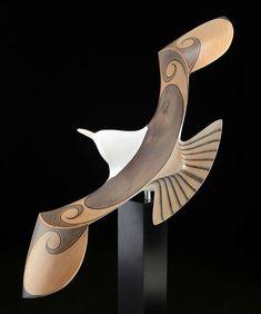 Mew Gull by Rex Homan, Māori artist (KRX111106)