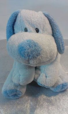 $35 Ty-Pluffies-Blue-Whiffer-Puppy-Dog-Plush-Soft-Tylux-Stuffed-Animal-Sewn-Eyes
