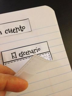 Partes de un cuento (diarios interactivos de lectura) Interactive Notebook in Spanish (Parts of a Story)