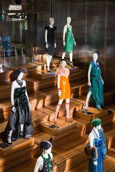Prada Opens Great Gatsby Exhibit in New York - Slideshow : The scene at the Prada store. Photo by Scott Rudd